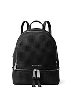 54537ad02b7a MICHAEL MICHAEL KORS Rhea Medium Perforated Leather Backpack