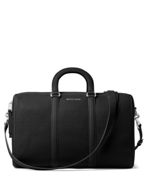 Libby Large Perforated Leather Gym Bag