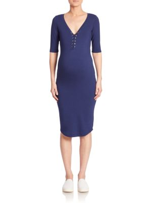 Cotton Blend Maternity Sheath Dress