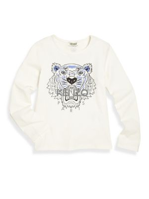 Toddler's, Little Girl's & Girl's Tiger Icon Graphic Tee