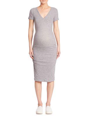 Solid Maternity Sheath Dress
