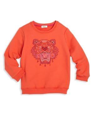 Toddler's, Little Girl's & Girl's Tiger Icon Sweatshirt