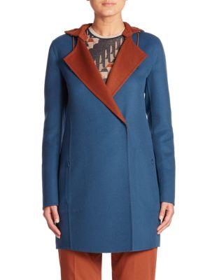 James Reversible Hooded Cashmere Coat