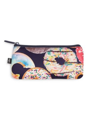 Donut-Print Pencil Case