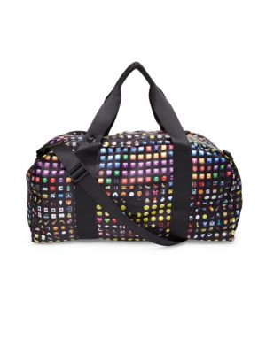 Emoji-Print Collapsible Duffle Bag
