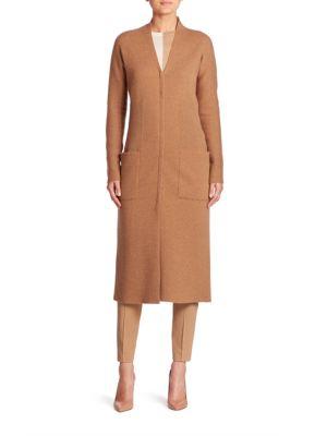 Stretch Cashmere Knit Coat
