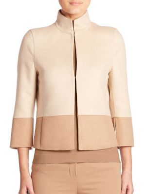 Reversible Two-Tone Cropped Jacket