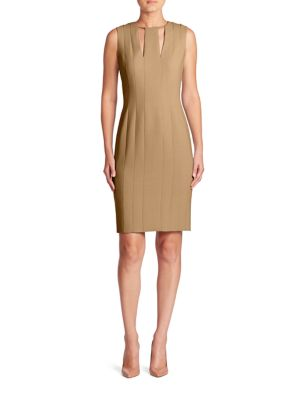 Wool Double Face Sheath Dress