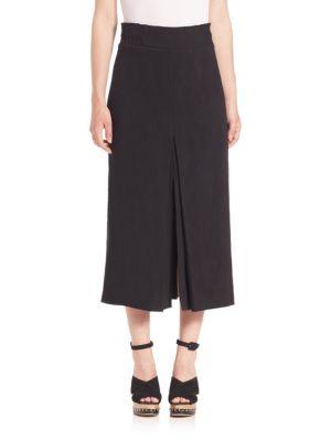 Obsidian Slit Midi Skirt