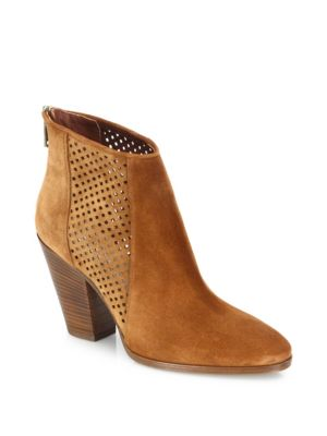Auletta Perforated Suede Booties