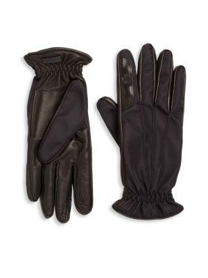 Nylon & Nappa Leather Gloves 0400090803866