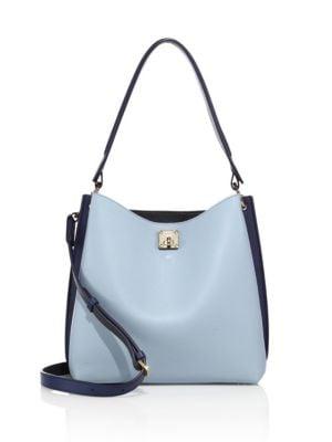 mcm female 201920 milla large twotone leather hobo bag