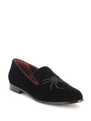 marc jacobs female 188971 zoe spiderembroidered velvet loafers