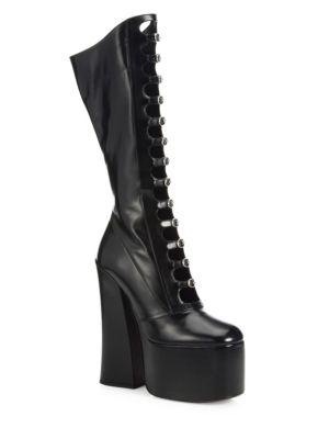 marc jacobs female 188971 kiki strappy leather platform boots