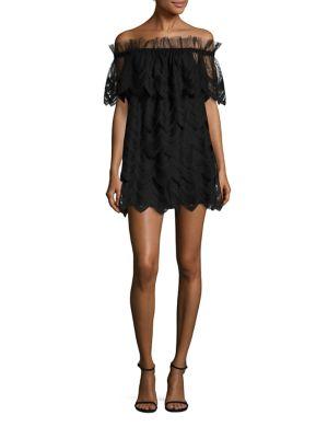 Ali Off-The-Shoulder Lace Dress