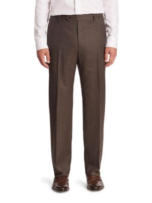 Solid Virgin Wool Trousers