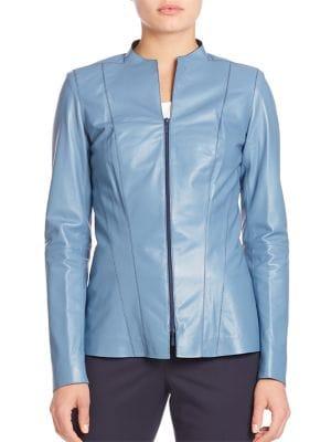 Tissue Weight Eliza Leather Jacket