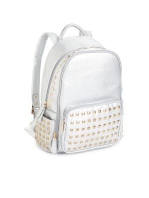 bari lynn female 45900 studded faux leather backpack