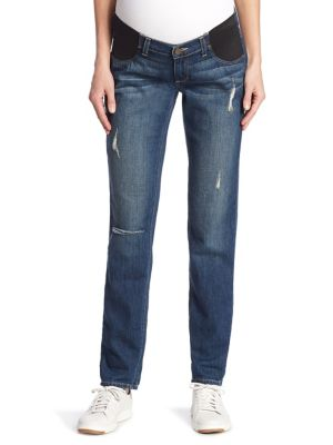 Jimmy Jimmy Distressed Cuffed Maternity Jeans plus size,  plus size fashion plus size appare