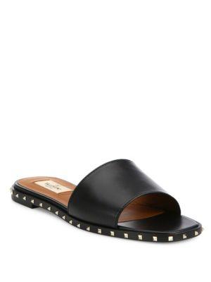 Soul Rockstud Leather Slides