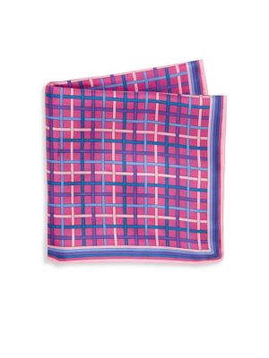 Silk Plaid Pocket Square