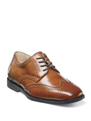 Toddler's & Kid's Reveal Wing-Tip Jr. Leather Brogues