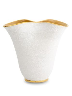 Tulip GoldTrimmed Vase