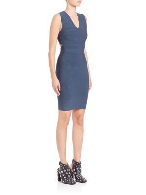 Rib-Knit Cutout Dress
