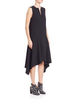 Drop-Waist Handkerchief Hem Dress