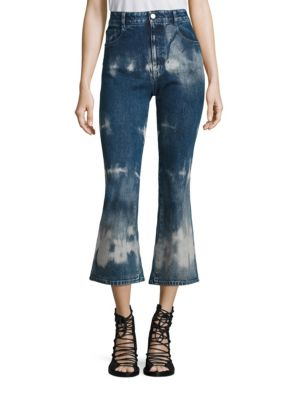 Tie-Dye High-Rise Kick Flare Jeans by Stella McCartney