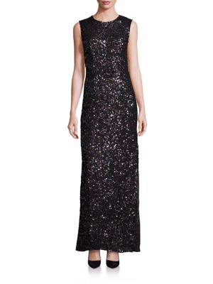 PLATINUM Sequin Cutout Gown