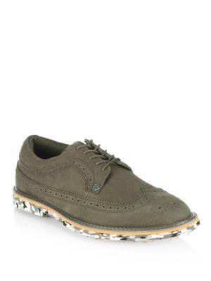 Gallivant Nubuck Wingtip Brogue Golf Shoes 0400090829813