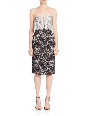 Endora Popover Lace Sheath Dress by Black Halo