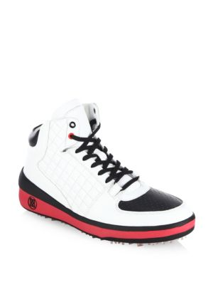 Snow Crusader Leather High-Top Golf Shoes 0400090829873