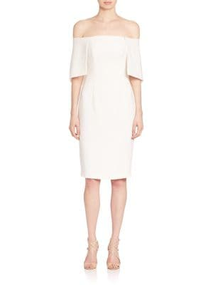 Eloise Cape Overlay Sheath Off-The-Shoulder Dress