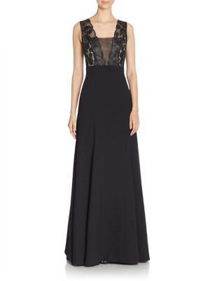 Cecilia Sleeveless Solid Gown