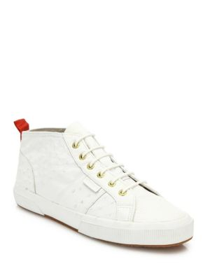 Del Toro X Superga Sardegna Ostrich Leather Mid-Top Sneakers
