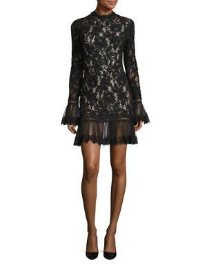 Nicole Ruffle Lace Dress