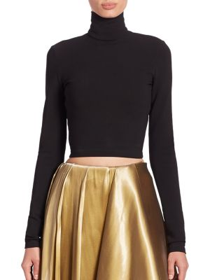Carmen Cropped Turtleneck Top by Ralph Lauren Collection