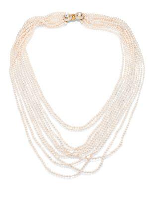 Multi Strand Faux-Pearl Necklace