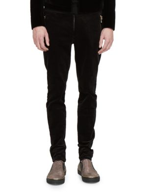 Image of Cotton Blend Zipped Pants