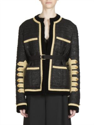 Military Wool Blend Buttoned Jacket by Givenchy