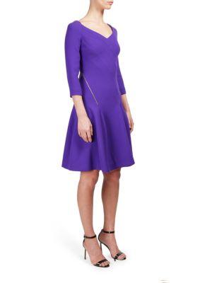 Solid Side Zip Dress