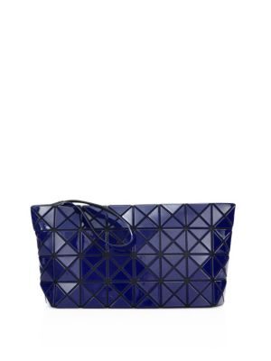 bao bao issey miyake female 236621 prism gloss faux leather zip pouch