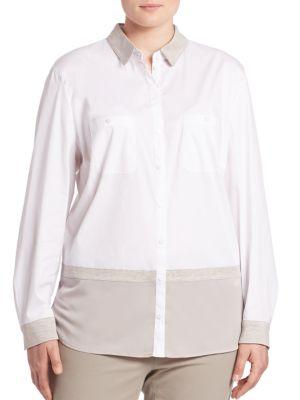 Colorblock Blouse plus size,  plus size fashion plus size appare