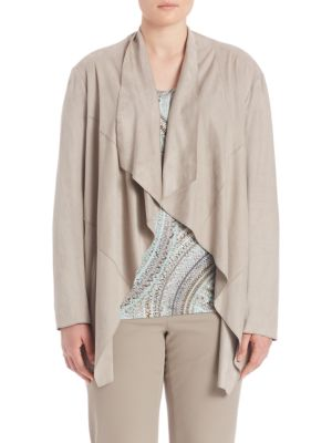 Draped Open-Front Jacket plus size,  plus size fashion plus size appare