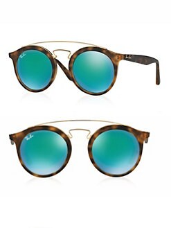 Ray-Ban - 50MM Round Mirrored Sunglasses