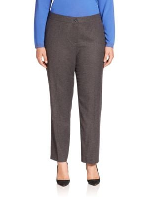Hilary Virgin Wool Blend Trousers plus size,  plus size fashion plus size appare