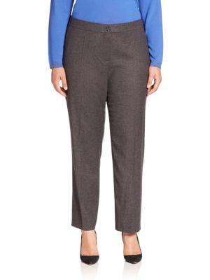 Hilary Virgin Wool Blend Trousers plus size,  plus size fashion plus size appare