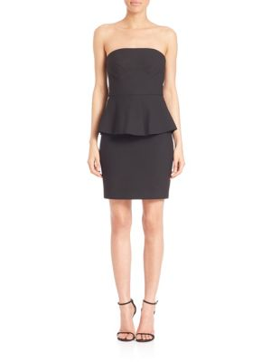 Laurel Strapless Peplum Dress